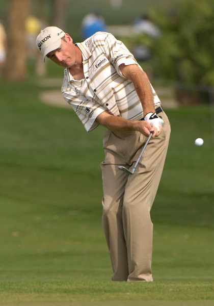 8. Jim Furyk, 2007 Honda Classic                       It's been about five years since Furyk last sported these short-sleeve button-ups, and I'm glad. I guess they work well if you're heading straight to the tee from the office (which we know was never the case for Furyk), but this look is stuffy and seems out of place on the golf course. Thankfully, Furyk's current on-course wardrobe is much more athletic. Leave the button-ups at work!