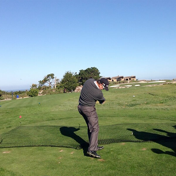 @JimmyWalkerPGA: Spyglass with @DAPoints @streels54 this morn.