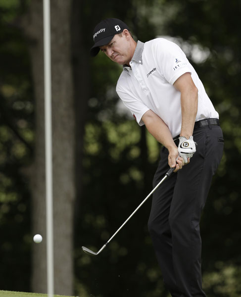 FedEx Cup points leader Jimmy Walker shot 68 and was tied for fourth at -5, two shots behind the leader.