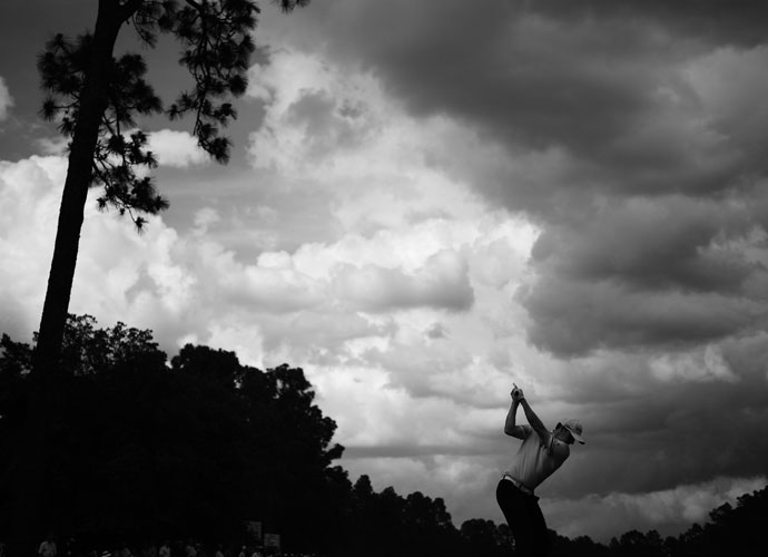 Jimmy Walker hits his drive from the 12th tee during the first round.