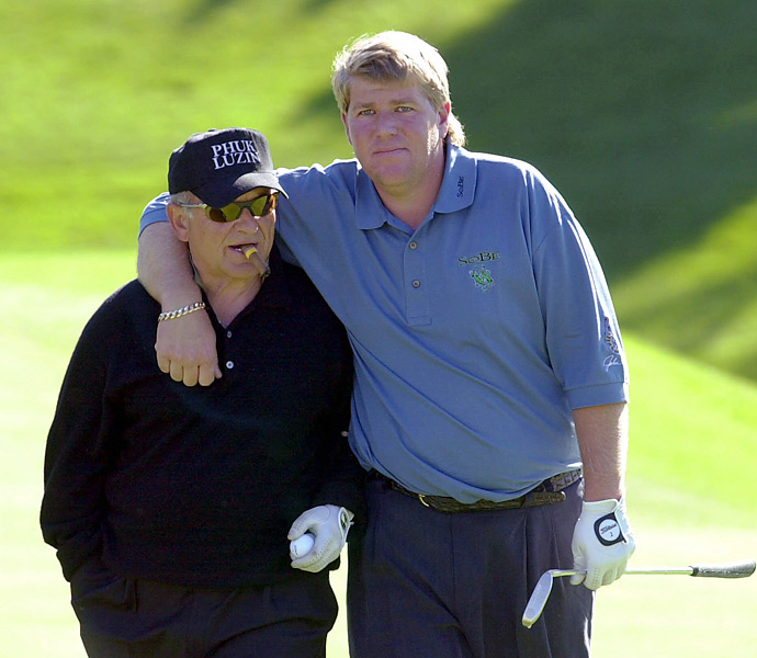 He spent some time with two-time major champion John Daly at Pebble Beach in 2001.