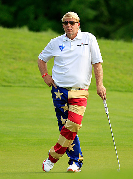 John Daly sported some patriotic pants for Independence Day. He shot a 75.