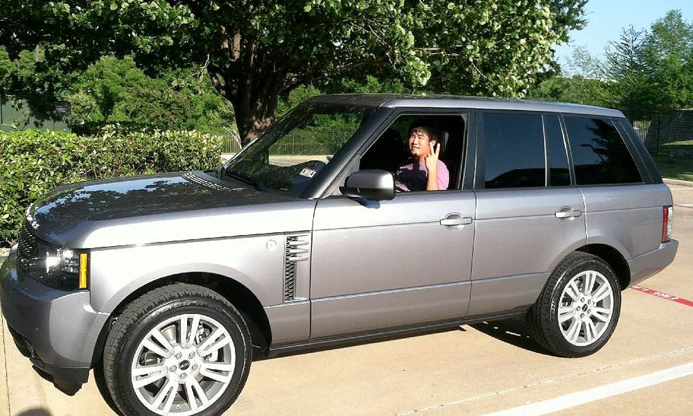John Huh's first car, a Range Rover