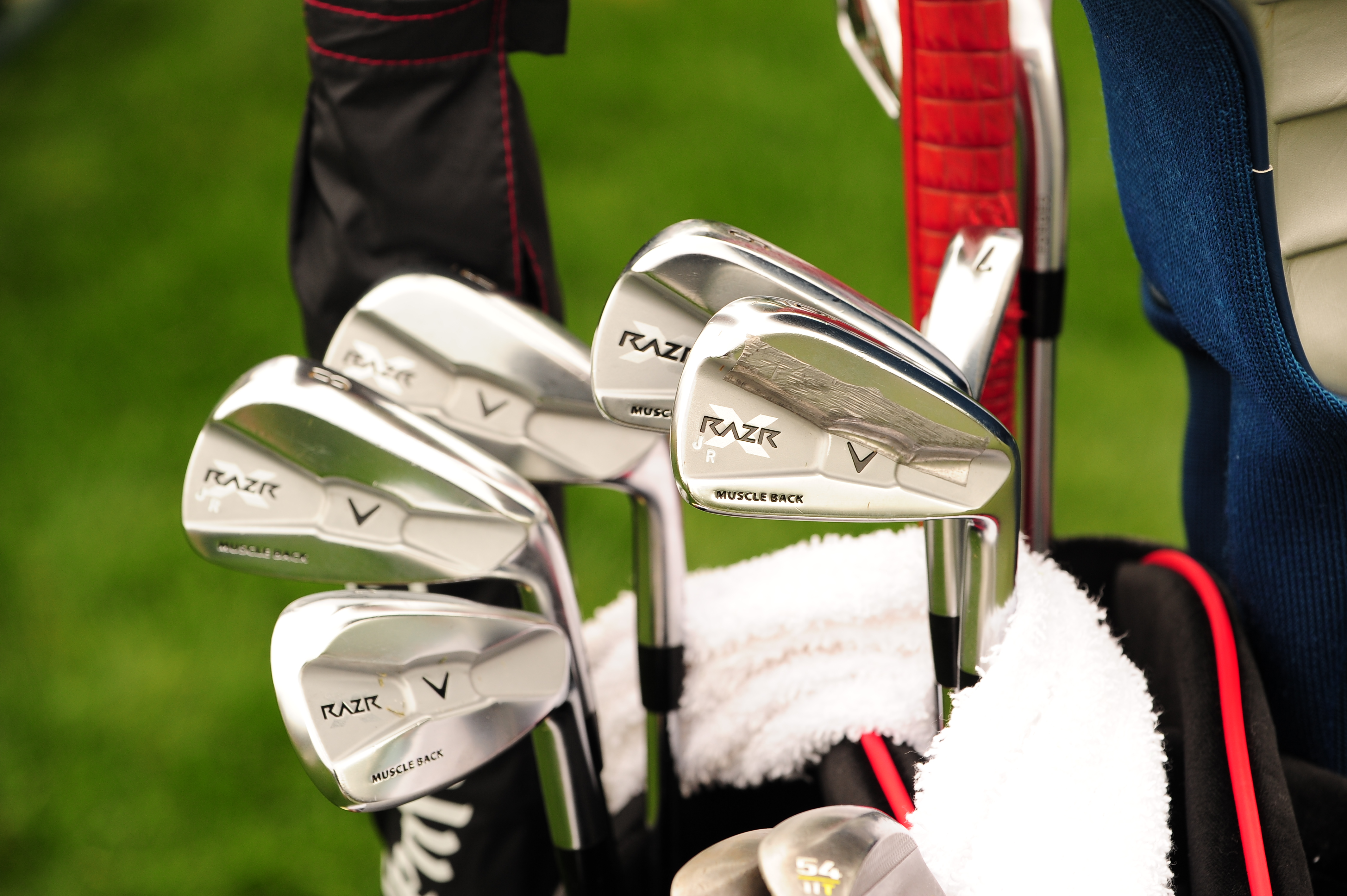 John Rollins likes a custom stamp on his Callaway RAZR X Forged irons.
