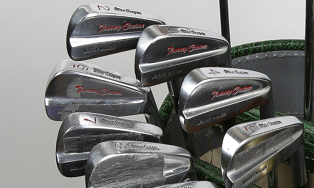 Miller irons were MacGregor Tommy Armour 915T (2-7) and MacGregor Tourney Custom (8-10). All of his irons had True Temper Dynamic stiff steel shafts that were a half-inch longer than standard length.