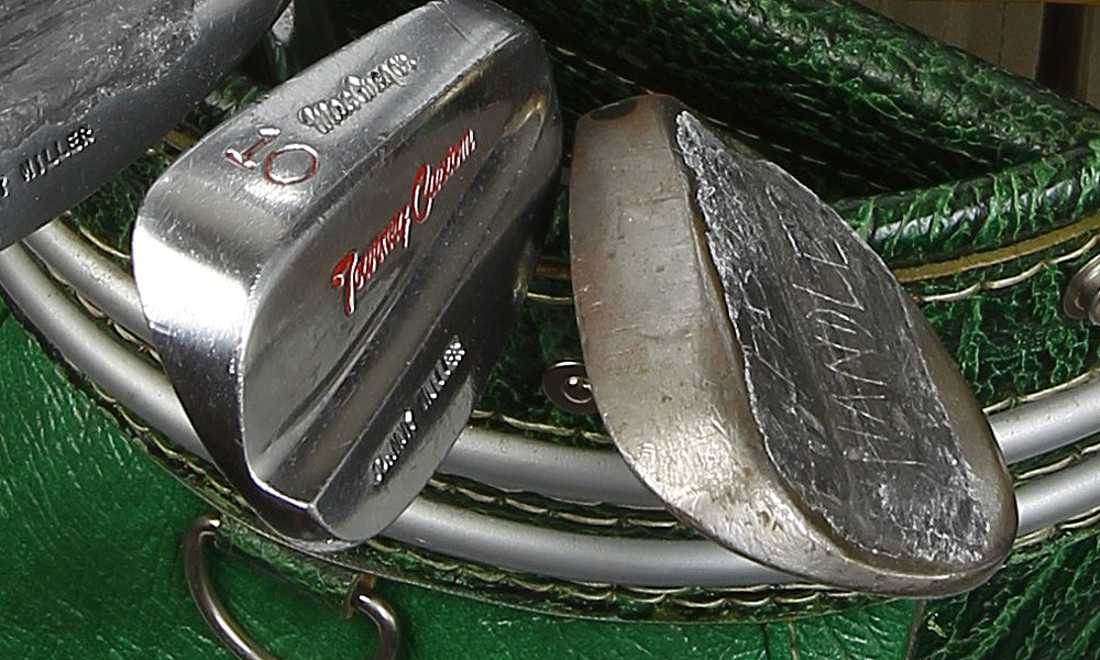 In addition to Miller's MacGregor Tourney Custom 10-iron, he also carried a 58° Wilson Dyna-Power sand wedge.