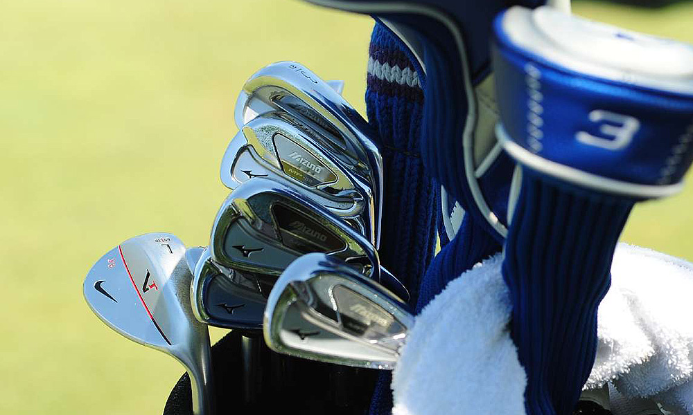 Jonathan Byrd is playing a set of Mizuno's MP-59 irons and a VR Pro wedge.