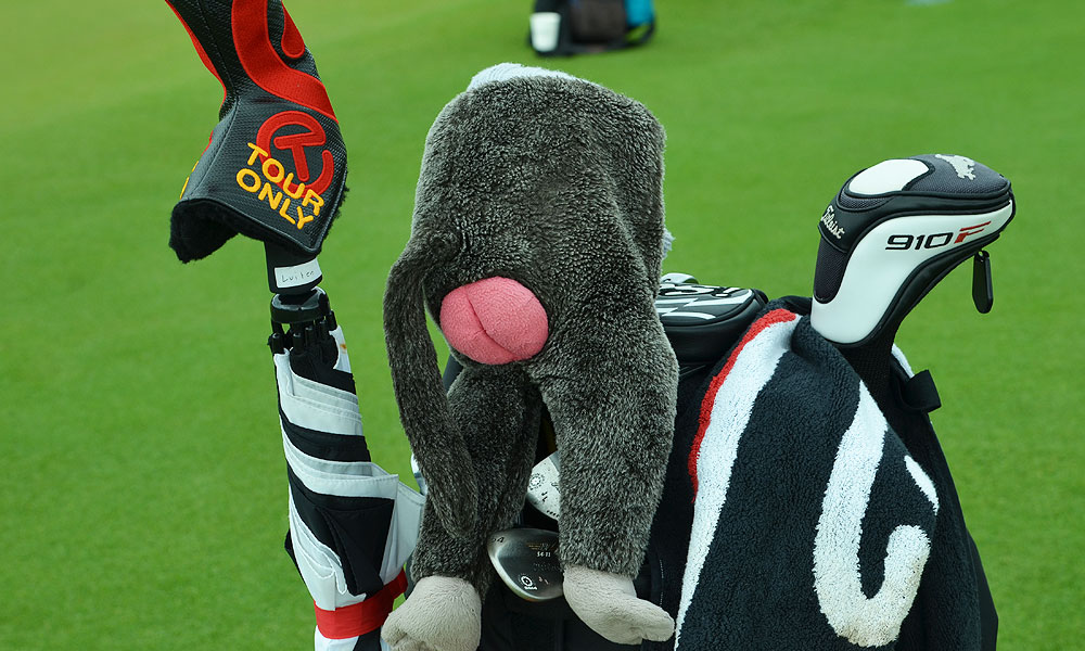 Joost Luiten's driver headcover is, well ... you can see for yourself in the picture.