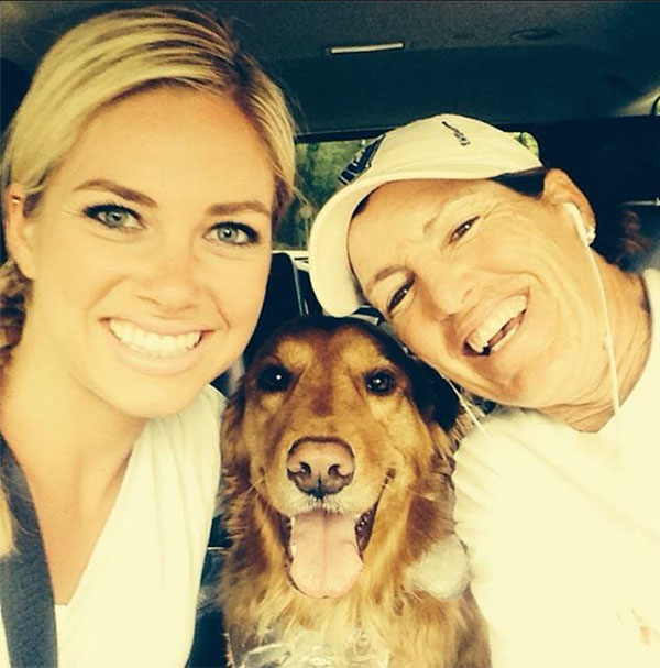 "LPGA Happy National Dog Day! - Juli Inkster and ""Colbie"""