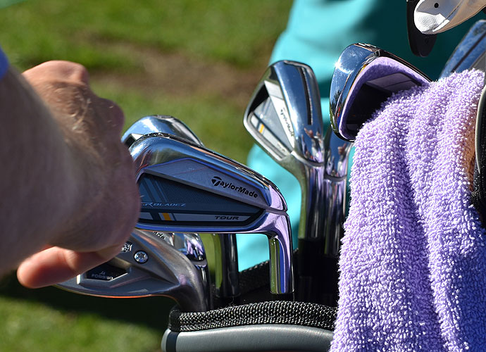 Justin Leonard has switched to the slotted TaylorMade RocketBladez Tour irons.