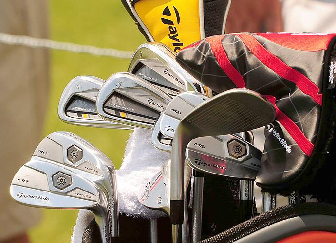 Justin Rose has a mix of TaylorMade RocketBladez Tour irons and TaylorMade Tour Preferred Forged MB irons in his bag.