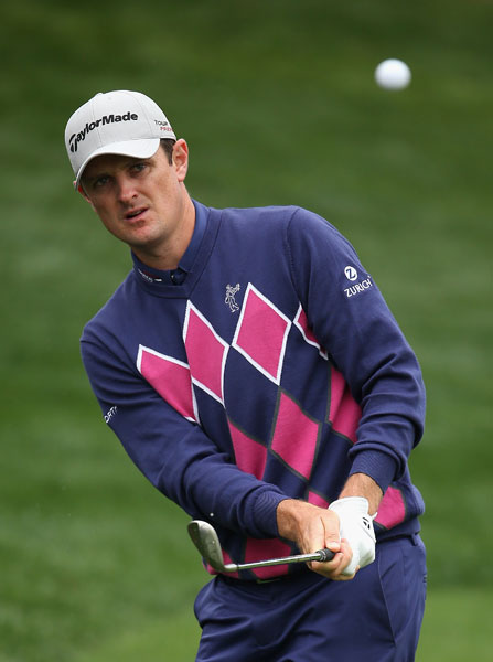 U.S. Open champion Justin Rose shot 67 Friday and was within a shot of the lead at 8-under.