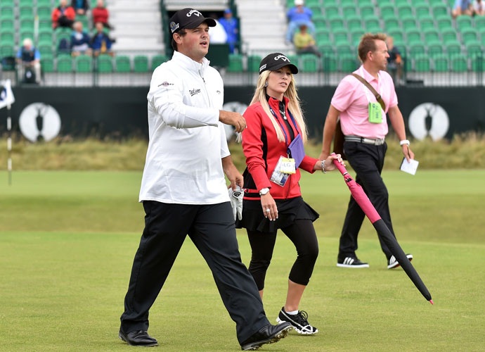 Justine also joined Patrick at last summer's British Open at Royal Liverpool.