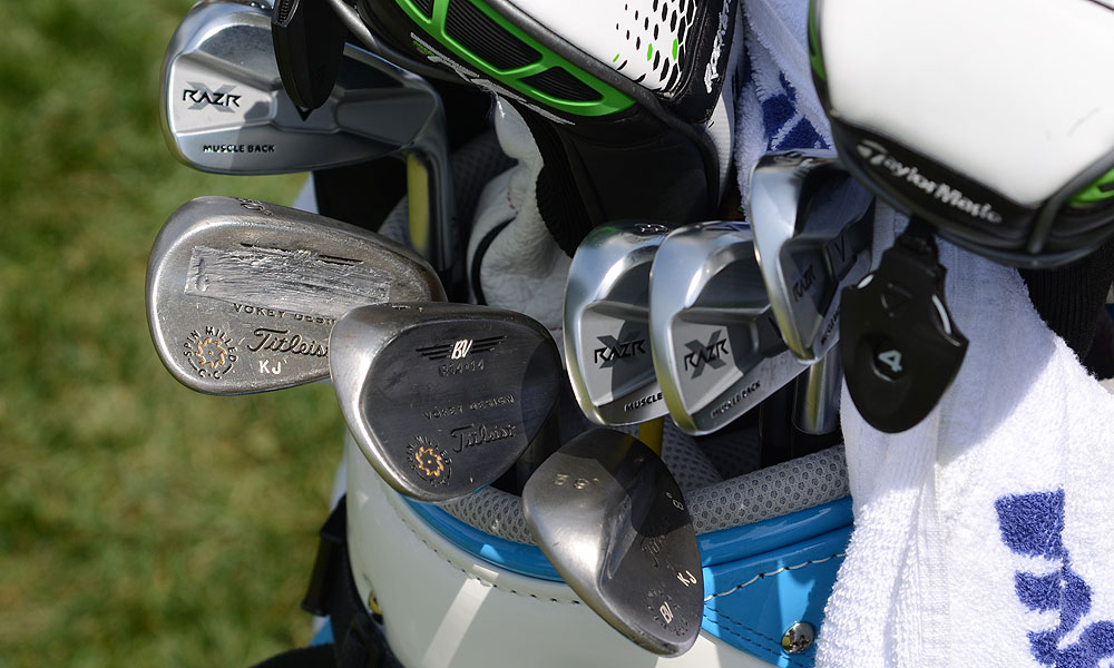 K.J. Choi is using Callaway RAZR X Muscleback irons and Titleist Vokey Design Spin Milled wedges.