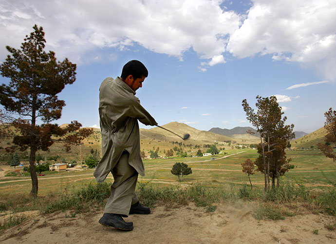 "Kabul Golf Club, Afghanistan: ""I won't close it,"" Abdul told The New York Times in 2007. ""I'll be patient. People need to play golf."""