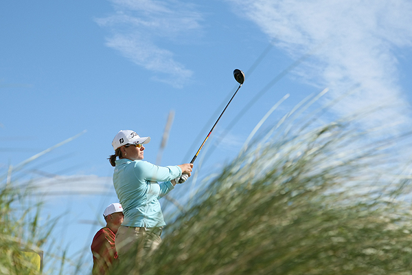 England's Karen Stupples, who won the Women's British Open in 2004, shot a two-over 75.