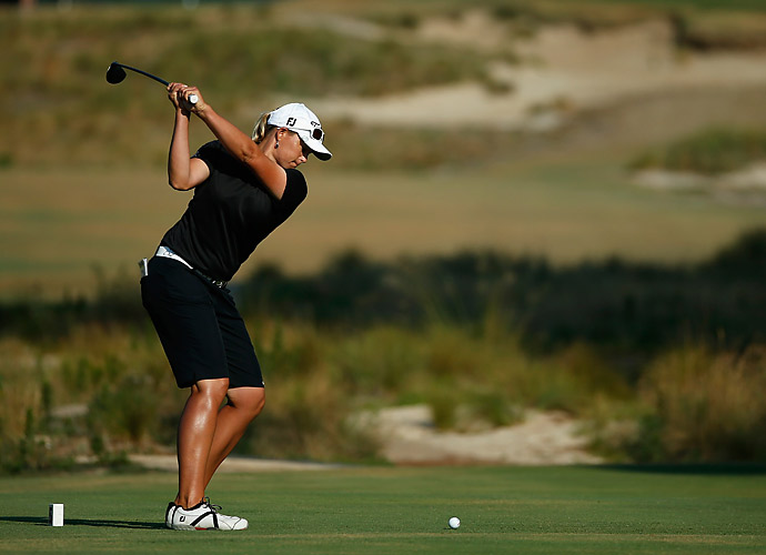 Katherine Kirk is two back after a 69 on day one.
