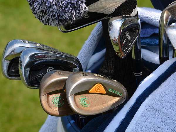 Keegan Bradley uses Cleveland CG14 wedges with a decidedly Irish feel, even though he's originally from Vermont.