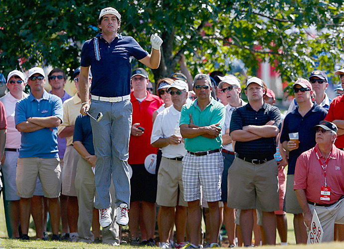 Keegan Bradley fired a 65 to get back into contention.