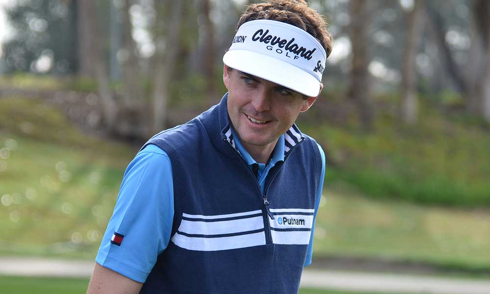 Keegan Bradley, who recently signed a new endorsement deal with Tommy Hilfiger, showed off his new shirts.