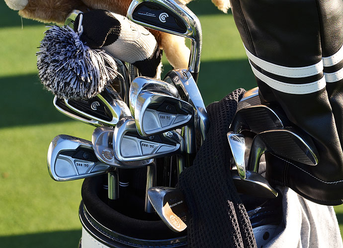 Keegan Bradley had been playing Cleveland CG7 irons for years, but he is switching to the new Cleveland Forged 588 TC irons this week at Torrey Pines.
