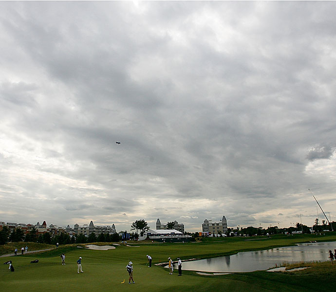 In 2013, tour players will face twenty holes measuring 600 yards or more. Here are the 10 longest:                      No. 10                     608 yards -- 16th Hole, Liberty National GC                     Home of The Barclays