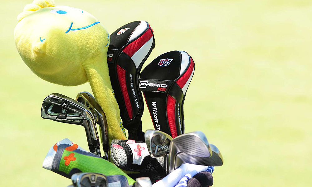 Kevin Streelman's Wilson Ci9 irons share his bag with a Lemonhead candy headcover that hides his driver.