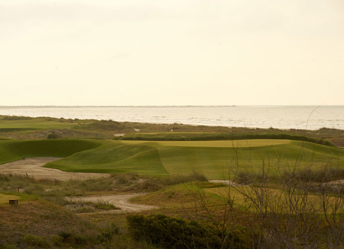 4. Kiawah Island Resort (Ocean), Kiawah Island, S.C.                        Back tees: 7,873 yards, par 72; rating: 79.2, slope: 155                        What a 16 handicapper would shoot: 98                         So tough was the wind-blown seaside track when it first opened that Ray Floyd speculated no one would break 80 if it were hosting a stroke-play event. Twice in the past 20 years, Dye has softened the layout, and it plays somewhat gentler in summer, but you'll still be whipsawed by the prospect of taking on tidal-marsh carries, scrub-topped coastal dunes and fiercely guarded, wildly undulating greens.