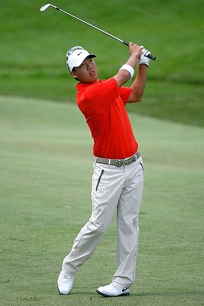 Anthony Kim got off to a rough start, going three over par for his first nine holes.