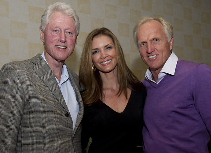 Former President (and avid golfer) Bill Clinton and the Normans.