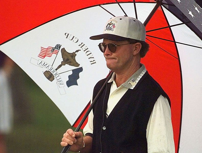 Tom Kite, 1997                       In 1997, the U.S. had its first micro-manager in captain Tom Kite. (It would have others, most notably Tom Lehman, Corey Pavin and Davis Love.) The U.S. lost by that familiar score, 14.5-13.5, in Spain. The feeling of intense loyalty many of the players had for Kite was never conveyed to the public. Kite looked after their every need, but he could not putt for them.