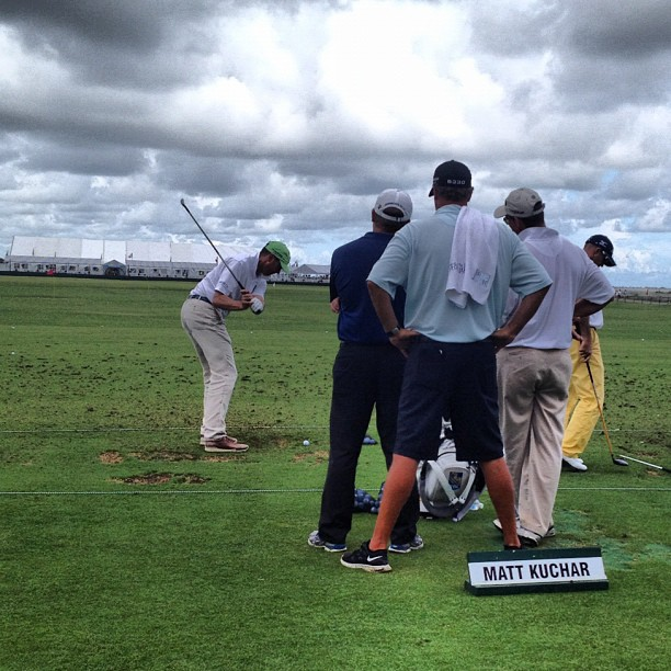 Matt Kuchar was able to get some practice in between the rain delays.