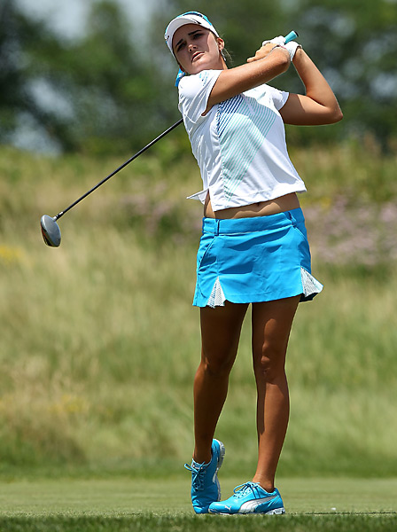 Lexi Thompson struggled to a 78 and tied for 14th.