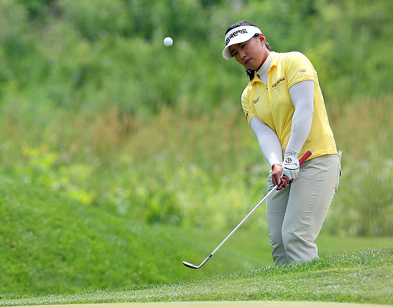 Amy Yang began the day six shots behind Na Yeon Choi. She shot a 71 to finish alone in second place, four shots back.