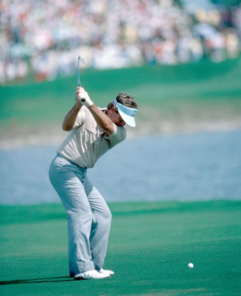 5. 1983; U.S. 14 ½ Europe 13 ½                       In the closest match ever on American soil, the proceedings came down to the final two singles matches. Down 3 holes with 11 to play, Lanny Wadkins stuck a 60-yard wedge 18 inches from the hole at PGA National's par-5 18th to earn a half-point against Jose Maria Canizares, and Tom Watson followed with a 2 and 1 victory over Bernard Gallacher, cementing the U.S. win.
