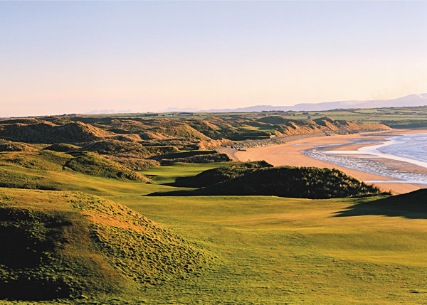 Hole No. 11                   Ballybunion (Old)                   Ballybunion, Ireland                   11th hole; par 4, 451 yards                                      This one holds its own with any hole on the planet, despite the absence of any formal bunkers. The back tee is wedged between dunes to the left and the beach to the right, and hovers 60 feet above the sea. It's more than 200 yards to reach the fairway, which itself is twice interrupted by broken ground on its downhill journey to the green. With the Atlantic Ocean on the right for the entire length of the hole, pushed shots are punished harshly, but the matted dunes to the left can be equally unforgiving. All that's left to do is locate an alarmingly small, kidney-shaped green positioned beyond two tall dunes.