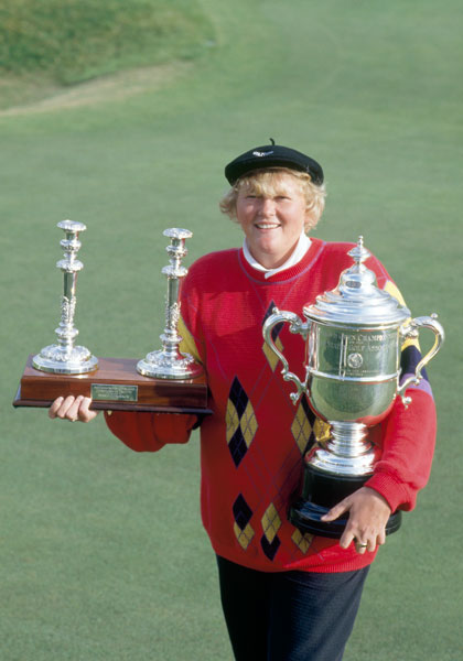 Laura Davies                         Davies earned her spot in the hall of fame with 84 victories around the world. She's won four majors, including the 1987 U.S. Women's Open.