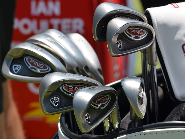 Lee Westwood uses a venerable set of Ping's i10 irons.