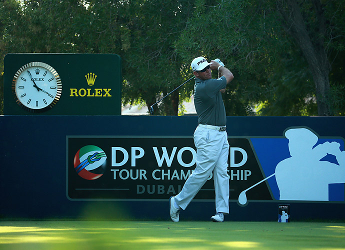 Lee Westwood made one birdie, one bogey, and an eagle to get to two under.