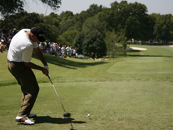 Tom Lehman, who finished tied for 24th at the 2001 U.S. Open at Southern Hills, is four over.