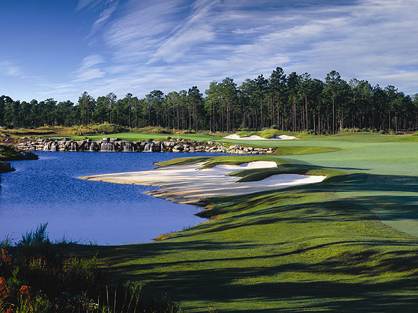 Leopard's Chase Golf Club                       at Ocean Ridge Plantation                       Ocean Isle Beach, N.C.                       7,155 yards, par 72                       Green fees: $95-$195                       910-287-1717, big-cats.com                       Architect Tim Cate has toiled on all four courses at Ocean Ridge, and has                       improved on every one. Leopard's Chase might just launch him to a national                       audience. This big cat stalks you with a daunting 140 slope, due primarily to the                       enormous, heaving, speedy greens and a back nine that bares its fangs at the 11th                       and never lets up. The front nine sports the prettiest hole—the island-green par-3                       4th, quickly followed by the intriguing par-4 5th, its green completely encircled by                       sand—but it's the (par 37) back nine that can shred your scorecard. The 439-yard                       finishing hole has ponds bracketing the fairway, a gigantic waste bunker up the                       right side, a waterfall left of the green and a prevailing left-to-right breeze. All that                       makes for one of the most memorable closers on the Grand Strand.
