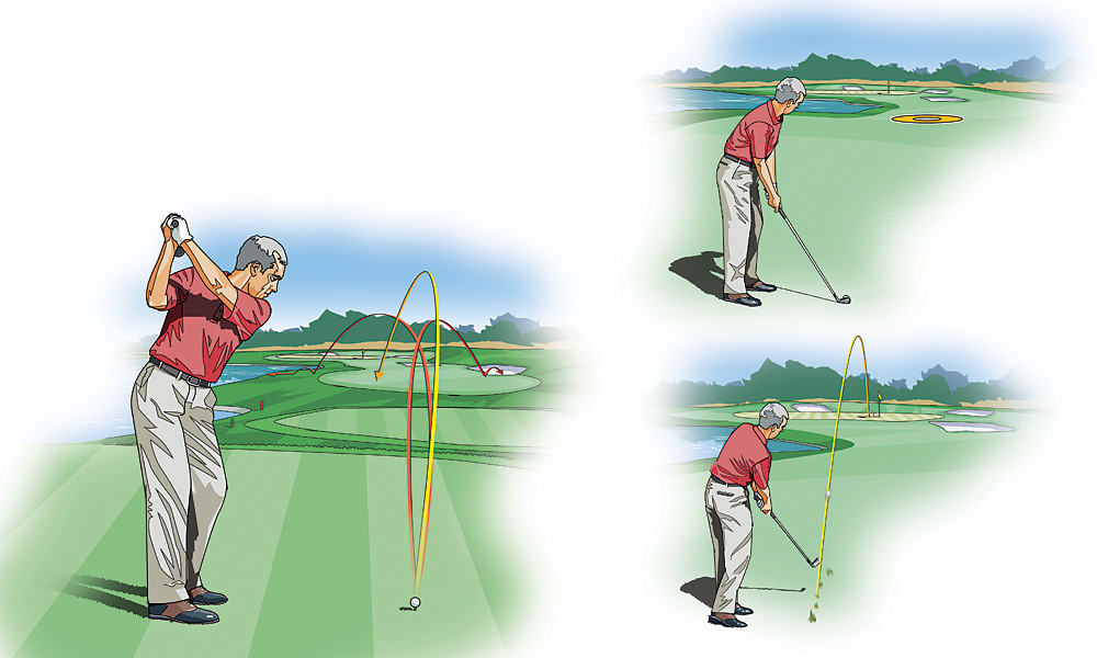SENIOR PLAYER: Par-5 Strategy: Get Down in Three                     Even with today's juiced balls and clubheads, there are few par 5s you can realistically reach in two shots. Your best chance of walking away with a par—maybe even a birdie—is to put your ego aside and play these long holes cautiously. Here are some things to consider so that you can turn par 5s into high fives.                                          THREE'S A CHARM: Since you're not reaching the green in two, there's no sense hitting driver off the tee and getting yourself into trouble. Instead, choose your 3-wood, which has more loft and is shorter and easier to control. Hit the fairway, and a long par 5 becomes a short, manageable par 4.                                          LAY UP TO A FULL WEDGE: Unless you can get your second shot within easy chipping or pitching range (i.e., inside 25 yards), resist the urge to go for it and just lay up to your favorite wedge distance. Make sure to leave yourself with the best angle into the green. If there's a water hazard or other signs of trouble at your favorite wedge distance, lay up short of it.                                          BE AGGRESSIVE: Assuming you played the first two shots well, you should have less than 100 yards to the flagstick and three shots in your pocket to make par. Those are good percentages, so don't be afraid to fire at the flag if the pin is accessible and the shot is in your comfort zone. Who knows, you may just walk away with a birdie.