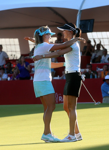 Thompson and Wie shared the 54-hole lead, but Wie proved no match for Thompson on Sunday.