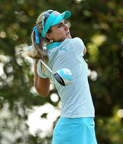 Thompson won her first major at the Kraft Nabisco Championship earlier this year.