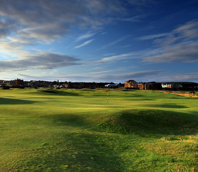 Brittany Lincicome won the 2010 Women's British Open at Royal Birkdale but selected the Old Course at St. Andrews as her favorite links course.                                          Pictured: The green on the par-4 15th hole 'Cartgate (In)' which shares its green with the 3rd hole (left) on the Old Course at St Andrews.