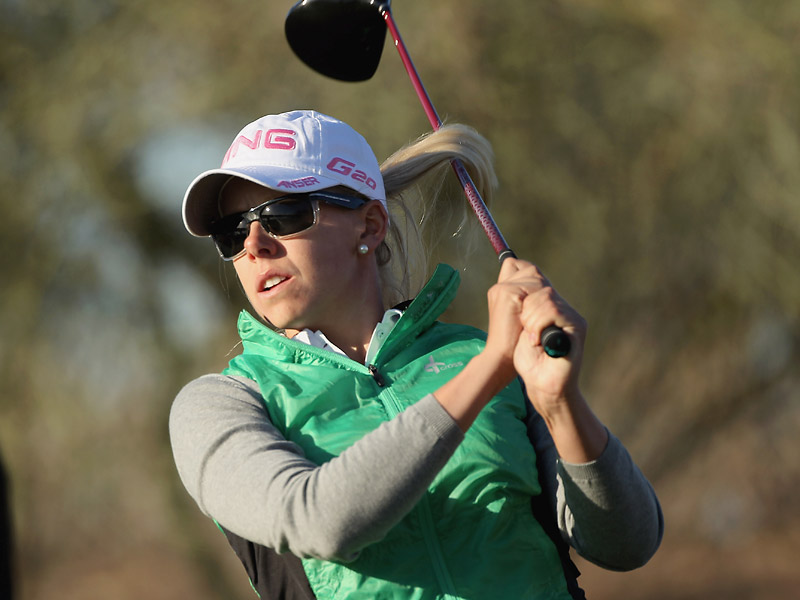 Pernilla Lindberg of Sweden shot a five-under 67.