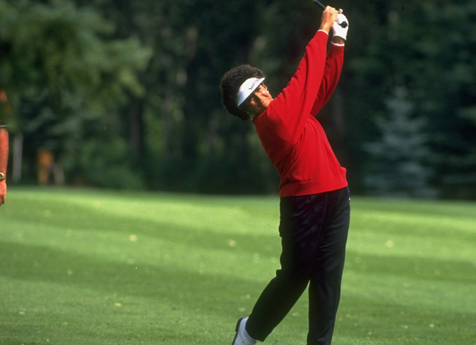 "8: Nancy Lopez                       ""Nancy has more moves in her swing than United Moving Company,"" said Top 100 Teacher Shawn Humphries. It wasn't all bad, though. Like all major winners with ugly looking swings, Lopez made it work for her. ""A beautiful tempo and timing helped her nail a bad backswing into a functional impact,"" Top 100 Teacher Anne Cain said."""