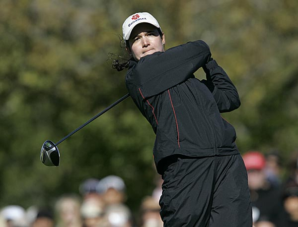 Lorena Ochoa finished alone in fourth at four under par.