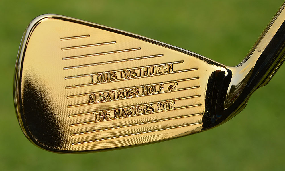 On Wednesday, Ping Golf presented Louis Oosthuizen with a gold-plated S56 4-iron to commemorate his double-eagle on the second hole during the final round of the 2012 Masters.