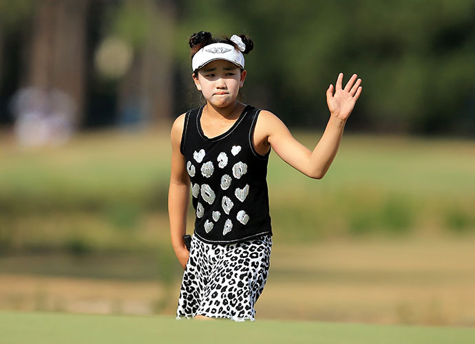 BIGGEST PRETEEN SENSATION                     Lucy Li at the U.S. Women's Open Fans couldn't get enough of the 11-year-old Li. Her precocious play [twice breaking 80 on Pinehurst No. 2] and giggly, ice-cream-licking likability provided sweet relief from the cynical currents of modern sport. Lucy, we know you have to grow up, but please -- take your time.